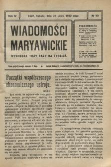 Wiadomości Maryawickie. R.4, № 90 (27 lipca 1912)