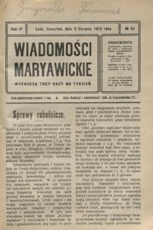 Wiadomości Maryawickie. R.4, № 95 (8 sierpnia 1912)