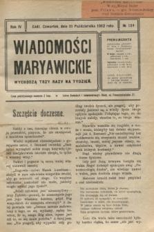Wiadomości Maryawickie. R.4, № 131 (31 października 1912)