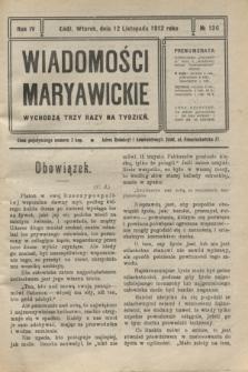 Wiadomości Maryawickie. R.4, № 136 (12 listopada 1912)