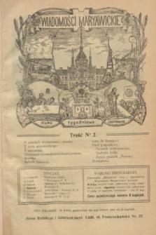 Wiadomości Maryawickie : pismo tygodniowe ilustrowane. R.8, № 2 (8 stycznia 1914)
