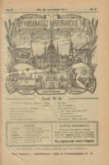 Wiadomości Maryawickie : pismo tygodniowe ilustrowane. R.8, № 14 (2 kwietnia 1914)