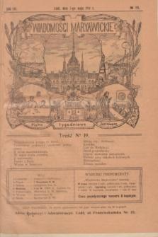 Wiadomości Maryawickie : pismo tygodniowe ilustrowane. R.8, № 19 (7 maja 1914)
