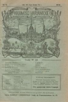 Wiadomości Maryawickie : pismo tygodniowe ilustrowane. R.8, № 33 (13 sierpnia 1914)