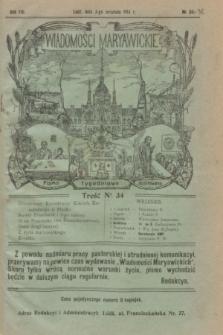 Wiadomości Maryawickie : pismo tygodniowe ilustrowane. R.8, № 34-36 (3 września 1914)