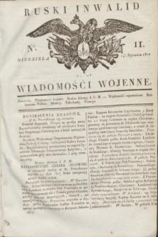 Ruski Inwalid : czyli wiadomości wojenne. 1817, No 11 (14 stycznia)
