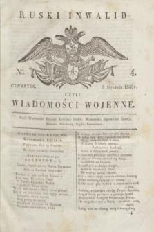 Ruski Inwalid : czyli wiadomości wojenne. 1820, № 4 (8 stycznia)