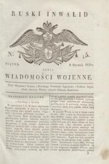 Ruski Inwalid : czyli wiadomości wojenne. 1820, № 5 (9 stycznia)