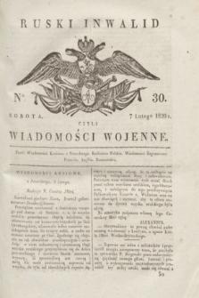 Ruski Inwalid : czyli wiadomości wojenne. 1820, № 30 (7 lutego)