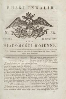 Ruski Inwalid : czyli wiadomości wojenne. 1820, № 35 (13 lutego)