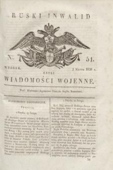 Ruski Inwalid : czyli wiadomości wojenne. 1820, № 51 (2 marca)
