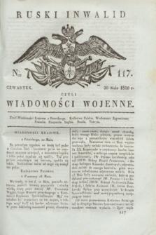 Ruski Inwalid : czyli wiadomości wojenne. 1820, № 117 (20 maja)