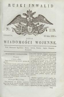 Ruski Inwalid : czyli wiadomości wojenne. 1820, № 119 (22 maja)