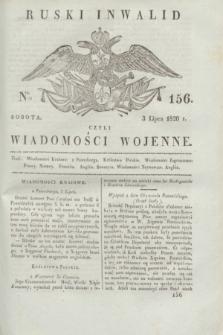 Ruski Inwalid : czyli wiadomości wojenne. 1820, № 156 (3 lipca)