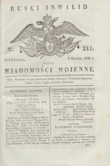 Ruski Inwalid : czyli wiadomości wojenne. 1820, № 211 (5 września)