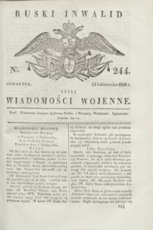 Ruski Inwalid : czyli wiadomości wojenne. 1820, № 244 (14 października)