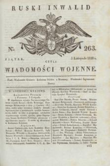Ruski Inwalid : czyli wiadomości wojenne. 1820, № 263 (5 listopada)