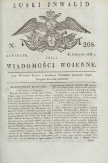 Ruski Inwalid : czyli wiadomości wojenne. 1820, № 268 (11 listopada)
