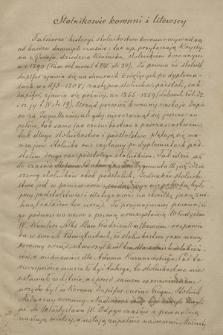 Stolnikowie, cześnikowie i podstolowie koronni i litewscy Spisy i dane biograficzne opracowane Leopolda Czapińskiego