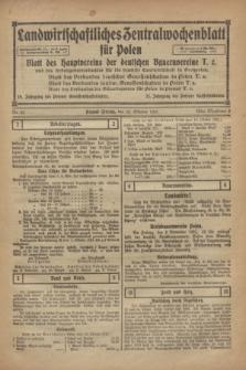 Landwirtschaftliches Zentralwochenblatt für Polen : Blatt des Hauptvereins der deutschen Bauernvereine und des Arbeitgeberverbandes für die deutsche Landwirtschaft in Großpolen. 1921, Nr. 42 (22 Oktober)