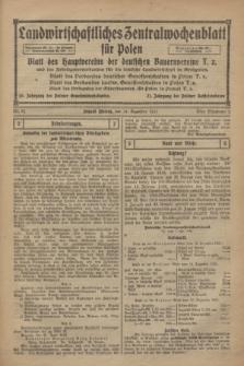Landwirtschaftliches Zentralwochenblatt für Polen : Blatt des Hauptvereins der deutschen Bauernvereine und des Arbeitgeberverbandes für die deutsche Landwirtschaft in Großpolen. 1921, Nr. 51 (24 Dezember)