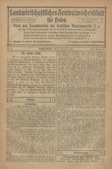 Landwirtschaftliches Zentralwochenblatt für Polen : Blatt des Hauptvereins der deutschen Bauernvereine und des Arbeitgeberverbandes für die deutsche Landwirtschaft in Großpolen. 1921, Nr. 52 (31 Dezember)