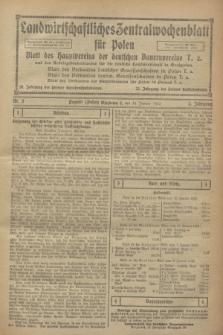Landwirtschaftliches Zentralwochenblatt für Polen : Blatt des Hauptvereins der deutschen Bauernvereine und des Arbeitgeberverbandes für die deutsche Landwirtschaft in Großpolen. Jg.3, Nr. 2 (14 Januar 1922)