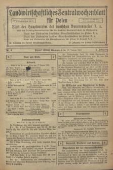 Landwirtschaftliches Zentralwochenblatt für Polen : Blatt des Hauptvereins der deutschen Bauernvereine und des Arbeitgeberverbandes für die deutsche Landwirtschaft in Großpolen. Jg.3, Nr. 3 (21 Januar 1922)