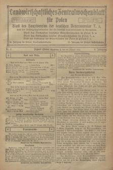 Landwirtschaftliches Zentralwochenblatt für Polen : Blatt des Hauptvereins der deutschen Bauernvereine und des Arbeitgeberverbandes für die deutsche Landwirtschaft in Großpolen. Jg.3, Nr. 4 (28 Januar 1922)