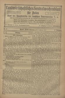 Landwirtschaftliches Zentralwochenblatt für Polen : Blatt des Hauptvereins der deutschen Bauernvereine und des Arbeitgeberverbandes für die deutsche Landwirtschaft in Großpolen. Jg.3, Nr. 5 (4 Februar 1922)
