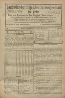 Landwirtschaftliches Zentralwochenblatt für Polen : Blatt des Hauptvereins der deutschen Bauernvereine und des Arbeitgeberverbandes für die deutsche Landwirtschaft in Großpolen. Jg.3, Nr. 6 (11 Februar 1922)