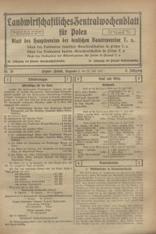 Landwirtschaftliches Zentralwochenblatt für Polen : Blatt des Hauptvereins der deutschen Bauernvereine. Jg.3, Nr. 26 (22 Juli 1922)