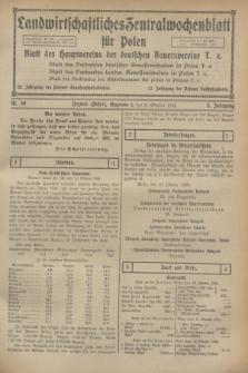 Landwirtschaftliches Zentralwochenblatt für Polen : Blatt des Hauptvereins der deutschen Bauernvereine. Jg.3, Nr. 39 (21 Oktober 1922)