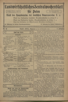 Landwirtschaftliches Zentralwochenblatt für Polen : Blatt des Hauptvereins der deutschen Bauernvereine. Jg.3, Nr. 43 (18 November 1922)