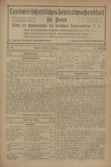 Landwirtschaftliches Zentralwochenblatt für Polen : Blatt des Hauptvereins der deutschen Bauernvereine. Jg.3, Nr. 45 (2 Dezember 1922)