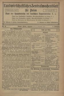 Landwirtschaftliches Zentralwochenblatt für Polen : Blatt des Hauptvereins der deutschen Bauernvereine. Jg.3, Nr. 48 (23 Dezember 1922)