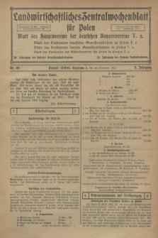 Landwirtschaftliches Zentralwochenblatt für Polen : Blatt des Hauptvereins der deutschen Bauernvereine. Jg.3, Nr. 49 (30 Dezember 1922)