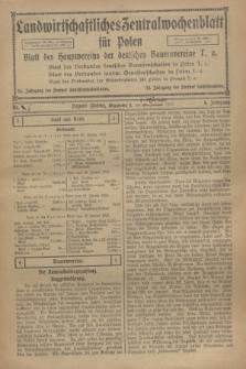 Landwirtschaftliches Zentralwochenblatt für Polen : Blatt des Hauptvereins der deutschen Bauernvereine. Jg.4, Nr. 5 (3 Februar 1923)