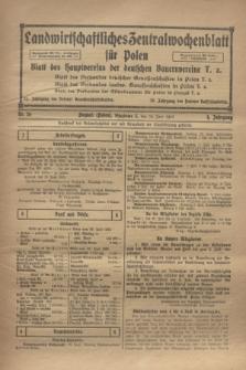 Landwirtschaftliches Zentralwochenblatt für Polen : Blatt des Hauptvereins der deutschen Bauernvereine. Jg.4, Nr. 26 (29 Juni 1923)