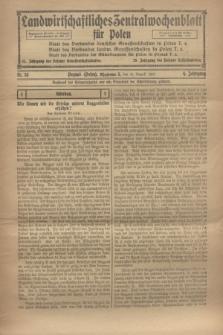 Landwirtschaftliches Zentralwochenblatt für Polen. Jg.4, Nr. 35 (31 August 1923)