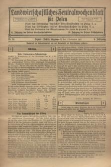 Landwirtschaftliches Zentralwochenblatt für Polen. Jg.4, Nr. 36 (7 September 1923)