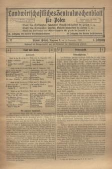 Landwirtschaftliches Zentralwochenblatt für Polen. Jg.4, Nr. 37 (14 September 1923)