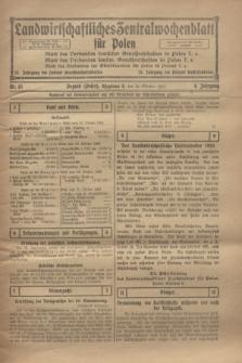 Landwirtschaftliches Zentralwochenblatt für Polen. Jg.4, Nr. 43 (26 Oktober 1923)