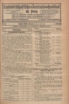Landwirtschaftliches Zentralwochenblatt für Polen. Jg.5, Nr. 24 (13 Juni 1924)