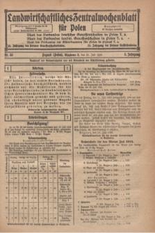 Landwirtschaftliches Zentralwochenblatt für Polen. Jg.5, Nr. 30 (25 Juli 1924)