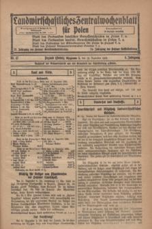 Landwirtschaftliches Zentralwochenblatt für Polen. Jg.5, Nr. 47 (19 Dezember 1924)