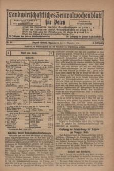 Landwirtschaftliches Zentralwochenblatt für Polen. Jg.5, Nr. 49 (31 Dezember 1924)