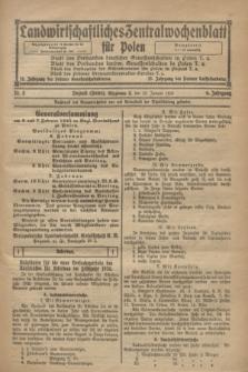 Landwirtschaftliches Zentralwochenblatt für Polen. Jg.6, Nr. 3 (23 Januar 1925)