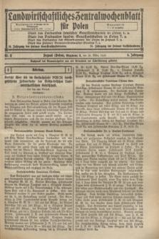 Landwirtschaftliches Zentralwochenblatt für Polen. Jg.6, Nr. 11 (20 März 1925)