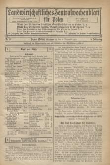 Landwirtschaftliches Zentralwochenblatt für Polen. Jg.6, Nr. 44 (6 November 1925)